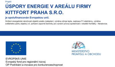 Projekt úspory energie v areálu firmy Kittfort Praha s.r.o.