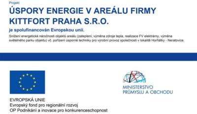 Projekt úspory energie vareálu firmy Kittfort Praha s.r.o.