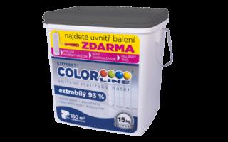 COLORLINE® – extrabílý malířský nátěr 93% bělost