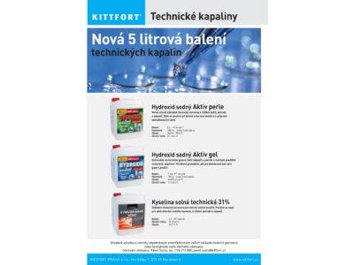 Nová 5 litrová balení technických kapalin
